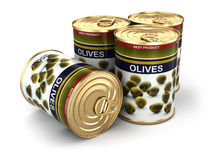 Canned olives. Stock Image