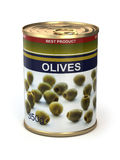 Canned olives Stock Photo
