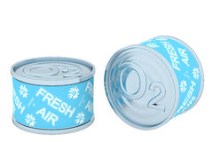 Canned oxygen, two tin Stock Photos