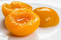 Canned Peach stock images
