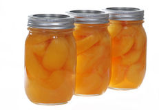 Canned Peaches Stock Photography