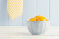 Canned peaches Royalty Free Stock Photography