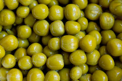 Canned peas closeup Stock Photos