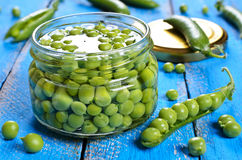Canned peas Royalty Free Stock Photography