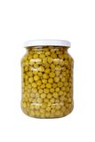 Canned peas isolated on white background Stock Image