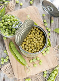 Canned Peas stock images