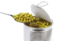 Canned peas Stock Photography