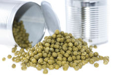 Canned Peas (on white) Royalty Free Stock Photography