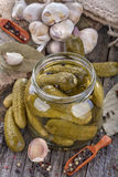 Canned pickles Stock Images