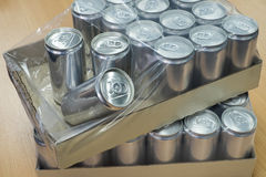 Canned production in carton box Stock Image
