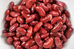 Canned Red Kidney Beans In Bowl Stock Photography