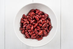 Canned Red Kidney Beans In Bowl Stock Photo