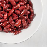 Canned Red Kidney Beans In Bowl Royalty Free Stock Image