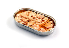 Canned salmon Royalty Free Stock Photography