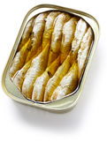Canned sardines in oil Stock Photo