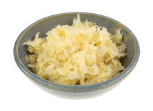 Canned Sauerkraut In Bowl Side Royalty Free Stock Image