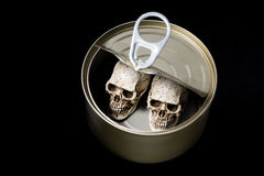Canned with skull Royalty Free Stock Images