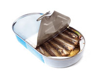 Canned smoked sprats Royalty Free Stock Photography