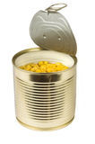 Canned sweet corn Stock Photography