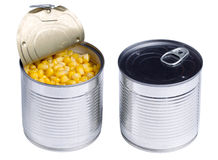 Canned sweet corn isolated Stock Photo