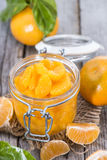 Canned Tangerines. Some Canned Tangerines with fresh fruits Stock Photography