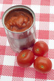 Canned Tomato Soup royalty free stock photography