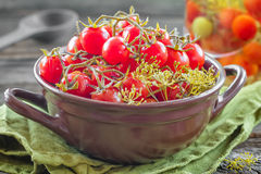 Canned tomatoes Royalty Free Stock Photography