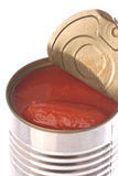 Canned Tomatoes Isolated Stock Image
