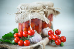 Canned tomatoes Stock Images
