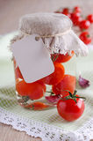 Canned tomatoes Royalty Free Stock Photos