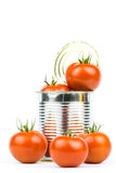Canned tomatoes 3 Royalty Free Stock Photos