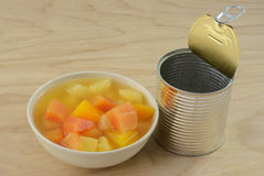 Free Canned Tropical Fruit Mix Royalty Free Stock Image - 89552096