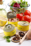 Canned tuna Royalty Free Stock Photo