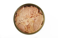 Canned tuna fish steak Royalty Free Stock Photo