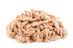 Canned tuna fish at on white background Stock Photography