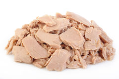 Canned tuna fish at on white background Stock Photos