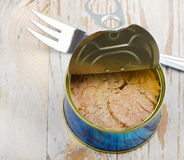 Canned tuna fish Royalty Free Stock Images