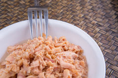 Canned Tuna Flake In A White Bowl IV Stock Photos