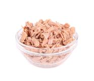 Free Canned Tuna In Glass Bowl. Stock Photography - 40917772