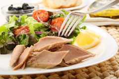 Canned tuna with salad Stock Image