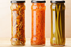 Canned vegetables Royalty Free Stock Image
