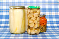 Canned vegetables Stock Images