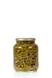 Canned vegetables, green beans Royalty Free Stock Images