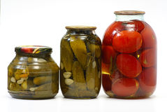 Canned Vegetables Isolated Royalty Free Stock Photography