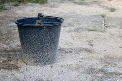 Canned water with sand splashes. royalty free stock photos