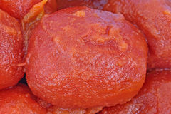 Canned Whole Peeled Tomatoes Close View Royalty Free Stock Photo