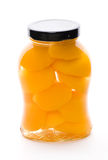 Canned Yellow Peach Stock Photography
