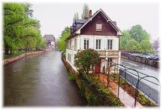 Cannel del fiume di Strasburgo, Strasburgo, Francia Fotografie Stock
