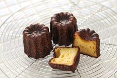 Cannele De Bordo, francuski tradycyjny custard deser zdjęcia royalty free
