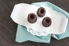 Cannele del chocolate Imágenes de archivo libres de regalías